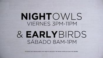 Kohl's TV Spot, 'SONOMA Goods for Life: Night Owls & Early Birds' [Spanish] - Thumbnail 2