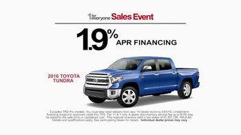 Toyota 1 for Everyone Sales Event TV Spot, 'Horses' - Thumbnail 7