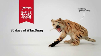 TaxSlayer.com TV Spot, '30 Days of Tax Swag: Taxidermy Tiger Rat Thing' - Thumbnail 2