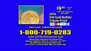 National Collector's Mint 2016 Gold Buffalo Tribute Proof TV Spot, 'Pure' - Thumbnail 5
