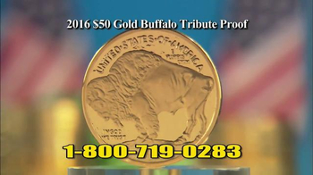 National Collector\'s Mint 2016 Gold Buffalo Tribute Proof TV Spot, \'Pure\'