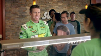 Subway Rotisserie-Style Chicken Sandwich TV Spot, 'Nice Guy Carl Edwards'