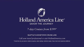 Holland America Line TV Spot, 'Savor the Journey' - Thumbnail 7
