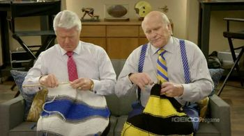 GEICO TV Spot, 'Pregame Relaxation' Featuing Terry Bradshaw, Jimmy Johnson - 1 commercial airings