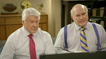 GEICO TV Spot, 'Pregame Relaxation' Featuing Terry Bradshaw, Jimmy Johnson - Thumbnail 1