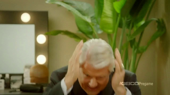 GEICO TV Spot, 'Pregame Haircare' Featuring Terry Bradshaw, Jimmy Johnson - Thumbnail 6