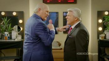 GEICO TV Spot, 'Pregame Pump Up' Featuring Terry Bradshaw, Jimmy Johnson - Thumbnail 3