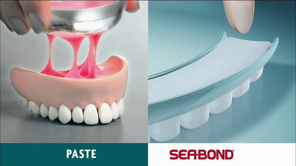 Sea Bond Denture Adhesive Seals TV Commercial, 'New Look'