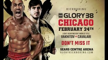 Glory Kickboxing TV Spot, 'Glory 38 Chicago: Sears Centre Arena' - 2 commercial airings