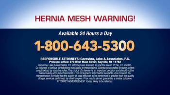Gacovino Lake TV Spot, 'Hernia Mesh Warning' - Thumbnail 6
