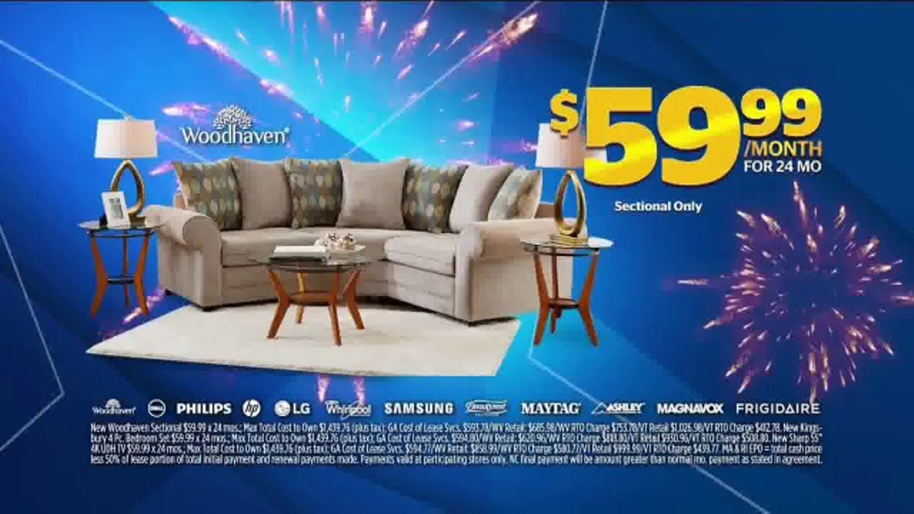 Aaron S Anniversary Sale Tv Commercial Sectional