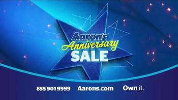Aaron's Anniversary Sale TV Spot, 'Sectional, Bedroom & TV' - Thumbnail 10
