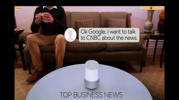 Google Home TV Spot, 'CNBC: News Updates' - Thumbnail 4