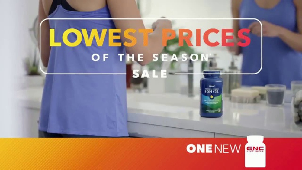 GNC Lowest Prices of the Season Sale TV Commercial, 'Biggest Savings'