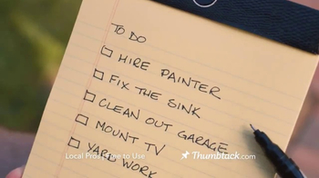 Thumbtack TV Spot, 'We All Have That List' - Thumbnail 1