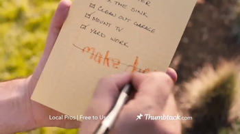 Thumbtack TV Spot, 'We All Have That List' - Thumbnail 9