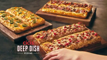 CiCi's Unlimited Buffet TV Spot, 'Three Deep Dish Pizzas'