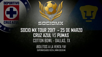 2017 SocioMx Tour TV Spot, 'Cruz Azul vs. Pumas: Cotton Bowl' - Thumbnail 10