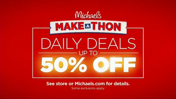 Michaels Make-A-Thon TV Spot, 'Daily Deals'