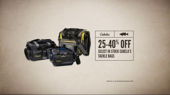 Cabela's Spring Great Outdoor Days Sale TV Spot, 'Tackle Bags' - Thumbnail 3