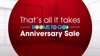 Rooms to Go Anniversary Sale TV Spot, 'Dual Reclining Sectional' - Thumbnail 3