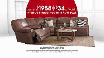 Rooms to Go Anniversary Sale TV Spot, 'Dual Reclining Sectional' - Thumbnail 4