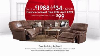 Rooms to Go Anniversary Sale TV Spot, 'Dual Reclining Sectional' - Thumbnail 5