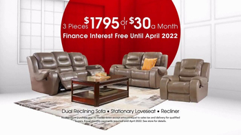Rooms to Go Anniversary Sale TV Spot, 'Dual Reclining Leather Sofa' - Thumbnail 6