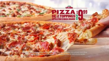 Papa John's 2 Topping Pizzas TV Spot, 'Un toque familiar' [Spanish] - Thumbnail 4