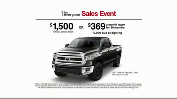 Toyota 1 for Everyone Sales Event TV Spot, '2017 Double Cab Tundra' [T2] - Thumbnail 7