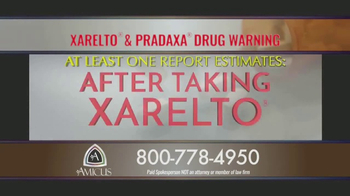 Amicus Media Group TV Spot, 'Xarelto and Pradaxa Warning' - Thumbnail 4