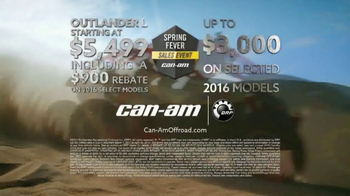 Can-Am Spring Fever Sales Event TV Spot, 'The Best Time of the Year' - Thumbnail 5
