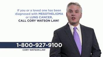 Cory Watson Law TV Spot, 'Mesothelioma'
