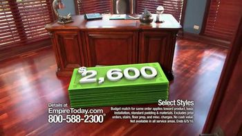 Empire Today Double Your Dollars Sale TV Spot, 'No Limit'