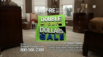 Empire Today Double Your Dollars Sale TV Spot, 'No Limit' - Thumbnail 2