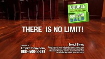 Empire Today Double Your Dollars Sale TV Spot, 'No Limit' - Thumbnail 7