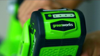 GreenWorks TV Spot, 'Battery Powered' Featuring Chris and Peyton Lambton - 399 commercial airings
