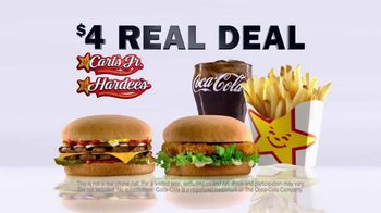 Carl\'s Jr. $4 Real Deal TV Spot, \'Kids Meal\'