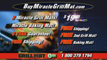 Miracle Grill Mat TV Spot, 'Eliminate Cleanup' Featuring Marc Gill - Thumbnail 10