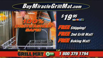 Miracle Grill Mat TV Spot, 'Eliminate Cleanup' Featuring Marc Gill - Thumbnail 8