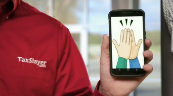 TaxSlayer.com TV Spot, 'High Five Emoji' Featuring Dale Earnhardt Jr. - Thumbnail 5