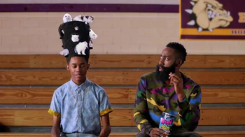 Trolli Sour Brite Crawlers TV Spot, 'Cat-Fro Outshines James Harden' - 833 commercial airings