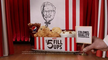 KFC $5 Fill Ups TV Spot, 'Guarantee' - Thumbnail 9