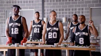 H-E-B TV Spot, 'Cooking Class' Featuring Tony Parker, LaMarcus Aldridge - 15 commercial airings