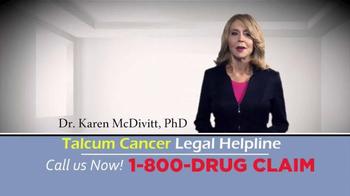 McDivitt Law Firm TV Spot, 'Talcum Cancer Legal Helpline' - Thumbnail 1