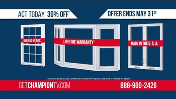 Champion Windows TV Spot, 'Uncomfortable: 30% Off' - Thumbnail 2
