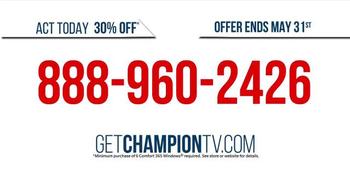 Champion Windows TV Spot, 'Uncomfortable: 30% Off' - Thumbnail 5