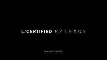 Lexus Spring Collection Sales Event TV Spot, 'L/Certified Program' - Thumbnail 5