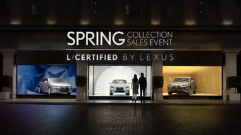 Lexus Spring Collection Sales Event TV Spot, 'L/Certified Program' - Thumbnail 1