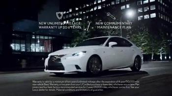 Lexus Spring Collection Sales Event TV Spot, 'L/Certified Program' - Thumbnail 2
